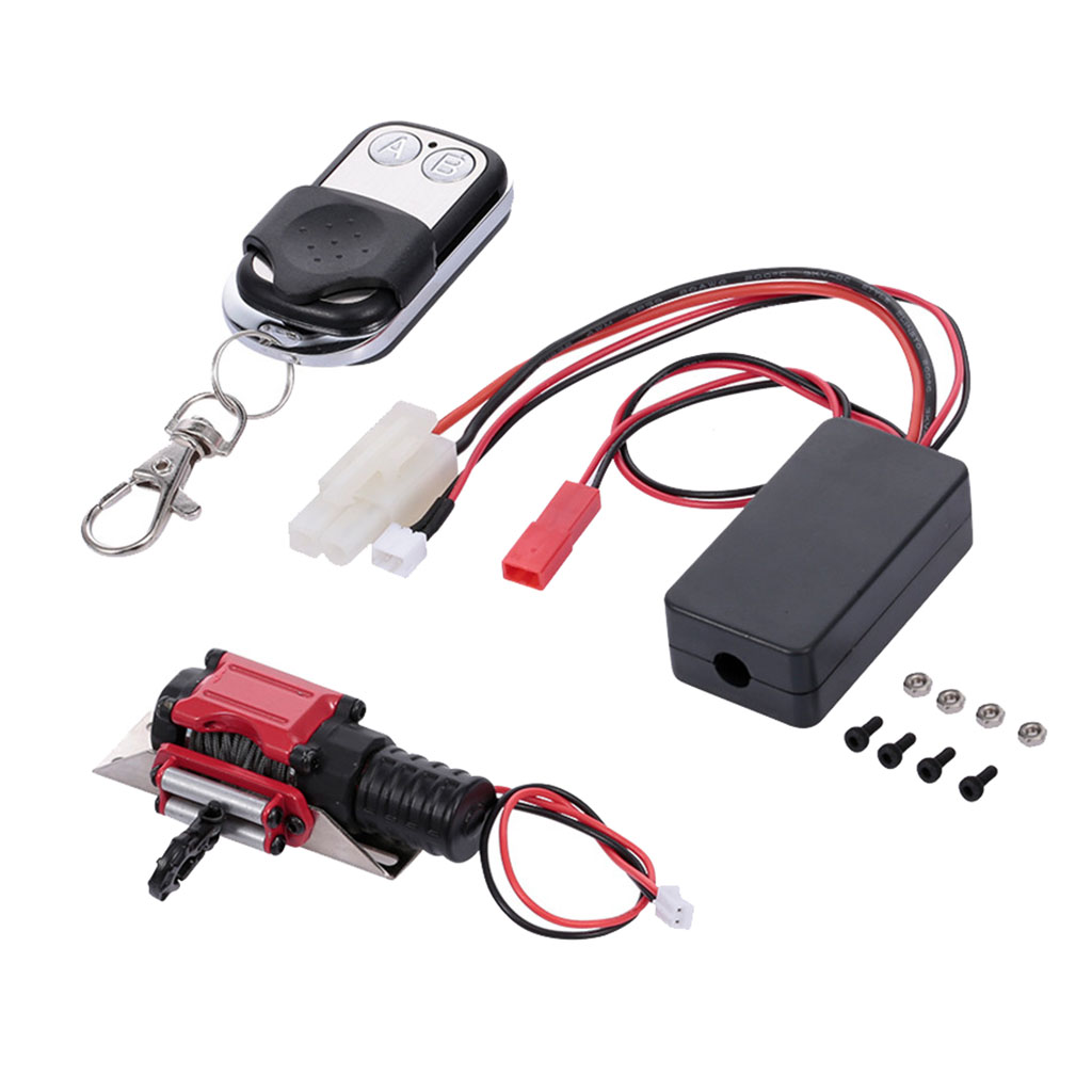 Metall Elektrische Winde mit 4CH Controller für 1//10 SCX10 D90 D110 TF2TRX4 KM2