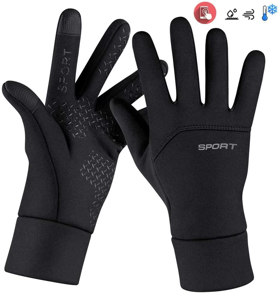 Touchscreen-Handschuhe Wasserdicht /& Winddicht W/ärmehandschuhe rutschfest Warme Winterhandschuhe Outdoor Laufen Klettern Skifahren Handschuhe f/ür Damen und Herren CHEREEKI Fahrradhandschuhe