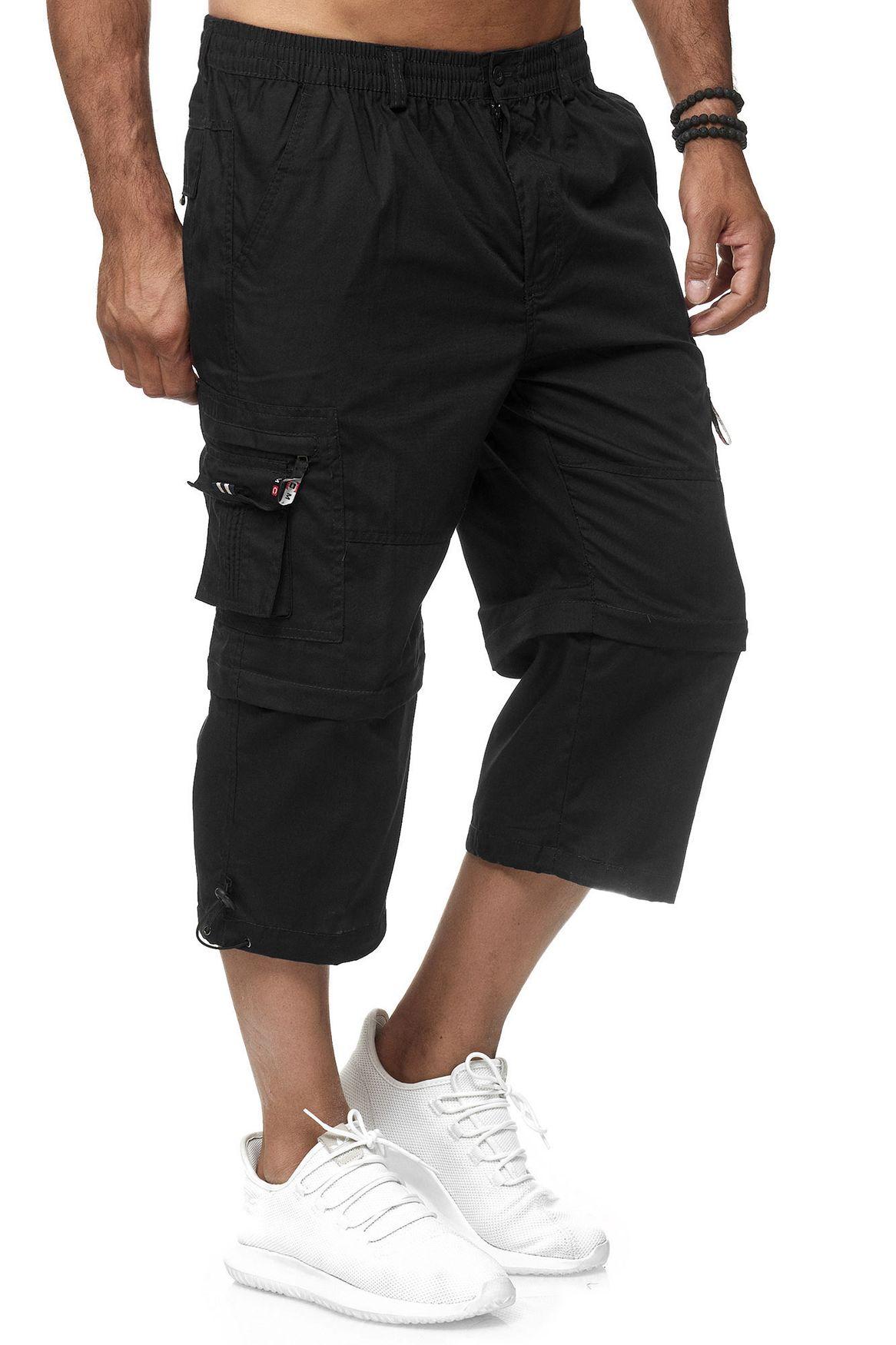 Herren 3//4 Länge Tarnung Cargo Shorts Hosen Locker Freizeit Baumwolle Plus