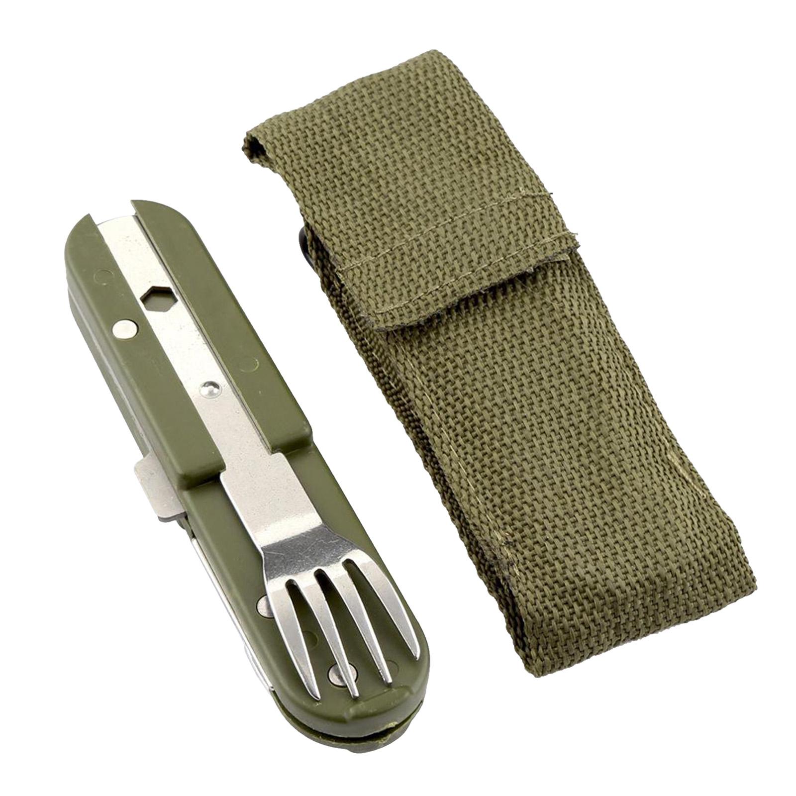 3 in 1 Besteck Combo tragbare Küche Utensilien Mahlzeit Zubehör für Camping Home