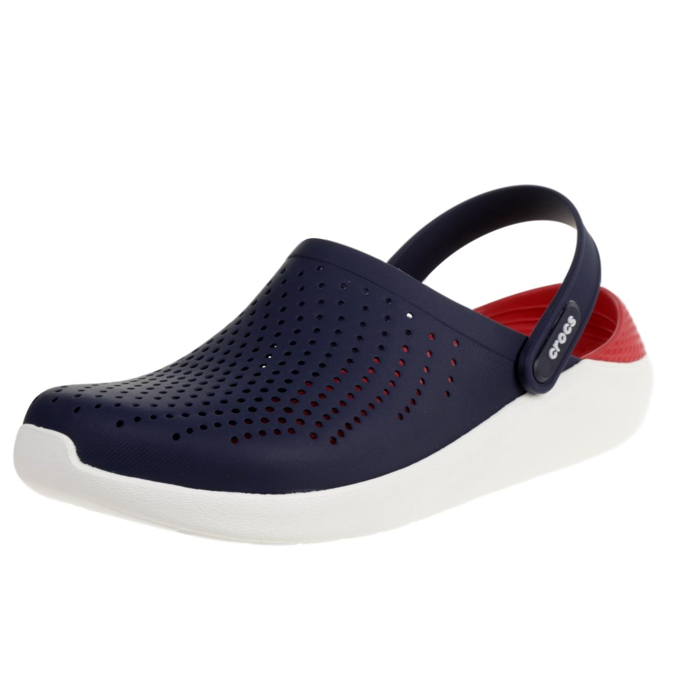 Crocs Damen-Herren-Sport-Freizeit-Clog LiteRide™ Clog schwarz weiss 204592 05M