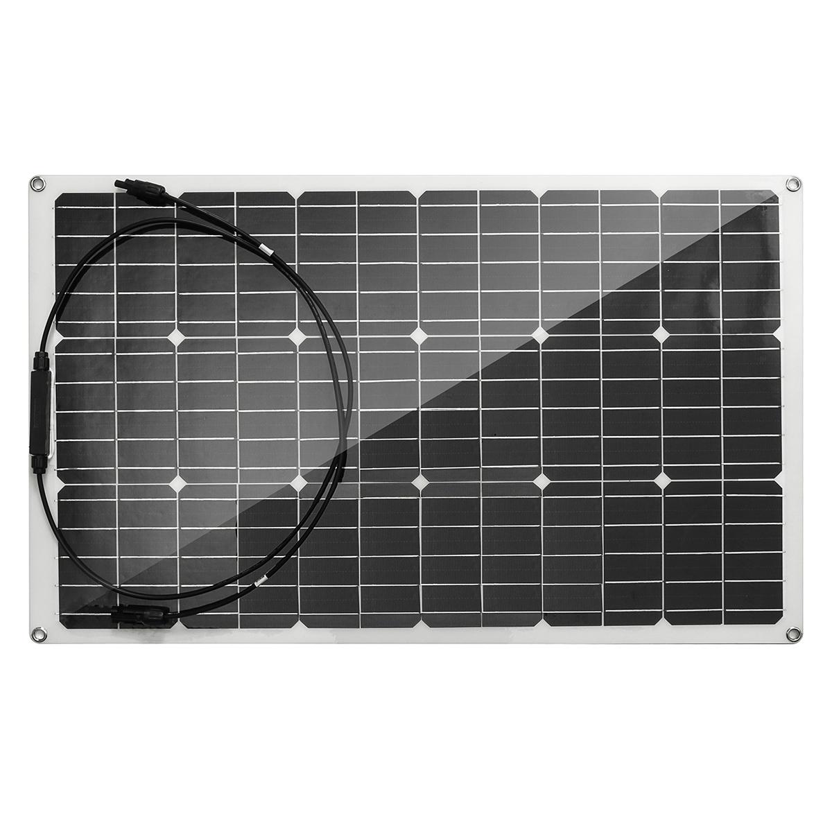 Fdit 100W 18V Solarpanel Flexible monokristalline Zelle Hochleistungs-Solarpanel der neuen Generation f/ür Wohnmobil-Bootskabinenzelt-LKW-Anh/änger