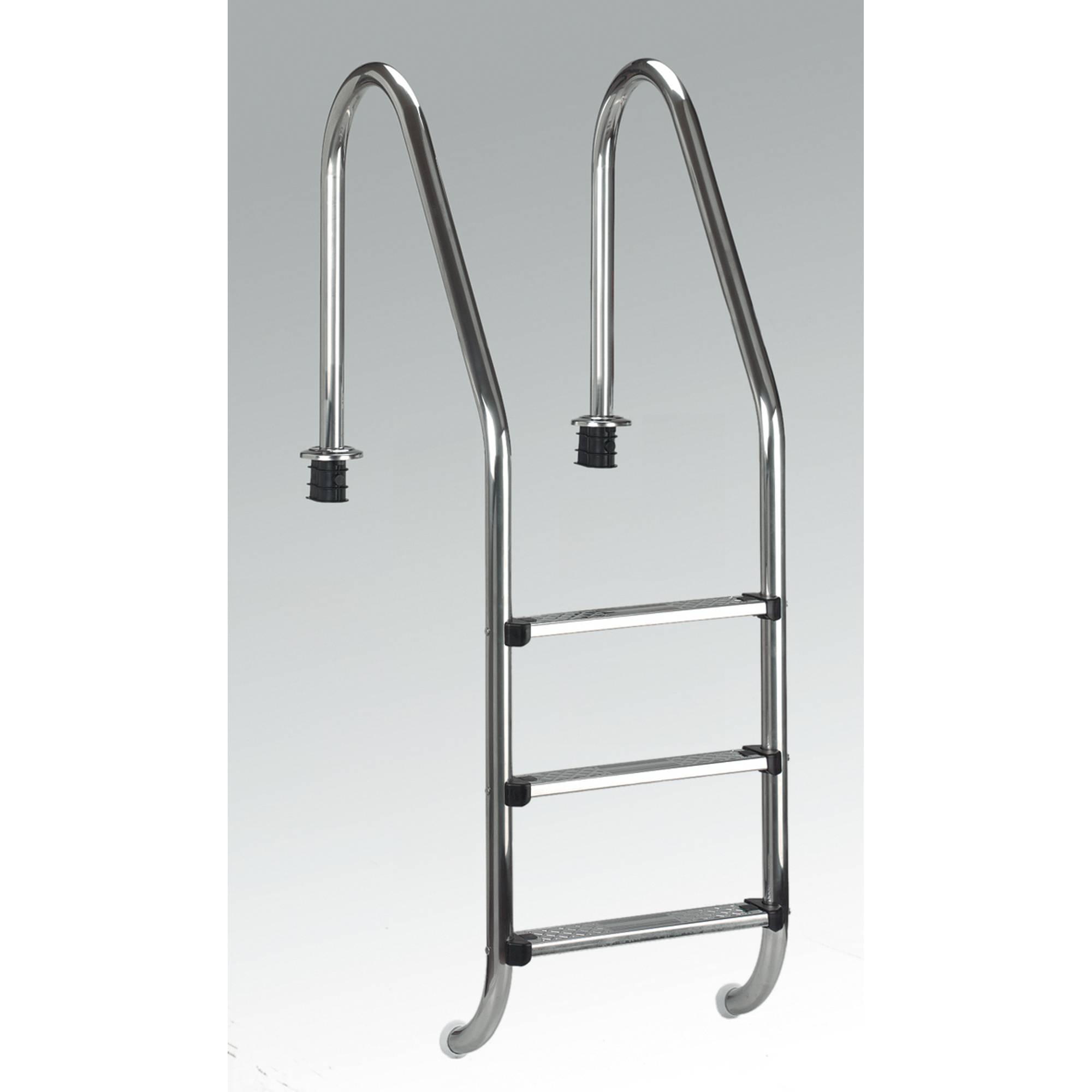 Ersatz f/ür Poolstufen f/ür Pools au/ßerhalb des Bodens rutschfestes Pedal f/ür Schwimmbad 1 Paket Schwimmbadleiter aus Edelstahl