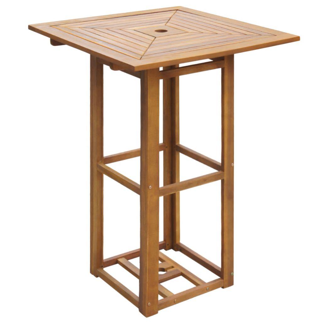 vidaXL Teak Massiv Bartisch Klappbar Gartentisch Stehtisch Bistrotisch Tisch