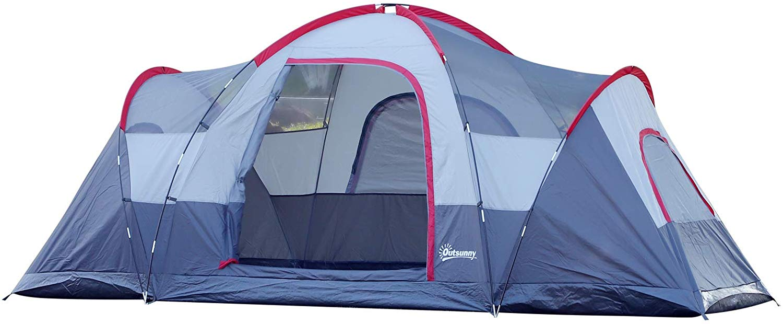 Outsunny Autozelt Campingzelt Reisezelt 4-5 Personen Glasfaser Polyester Grün