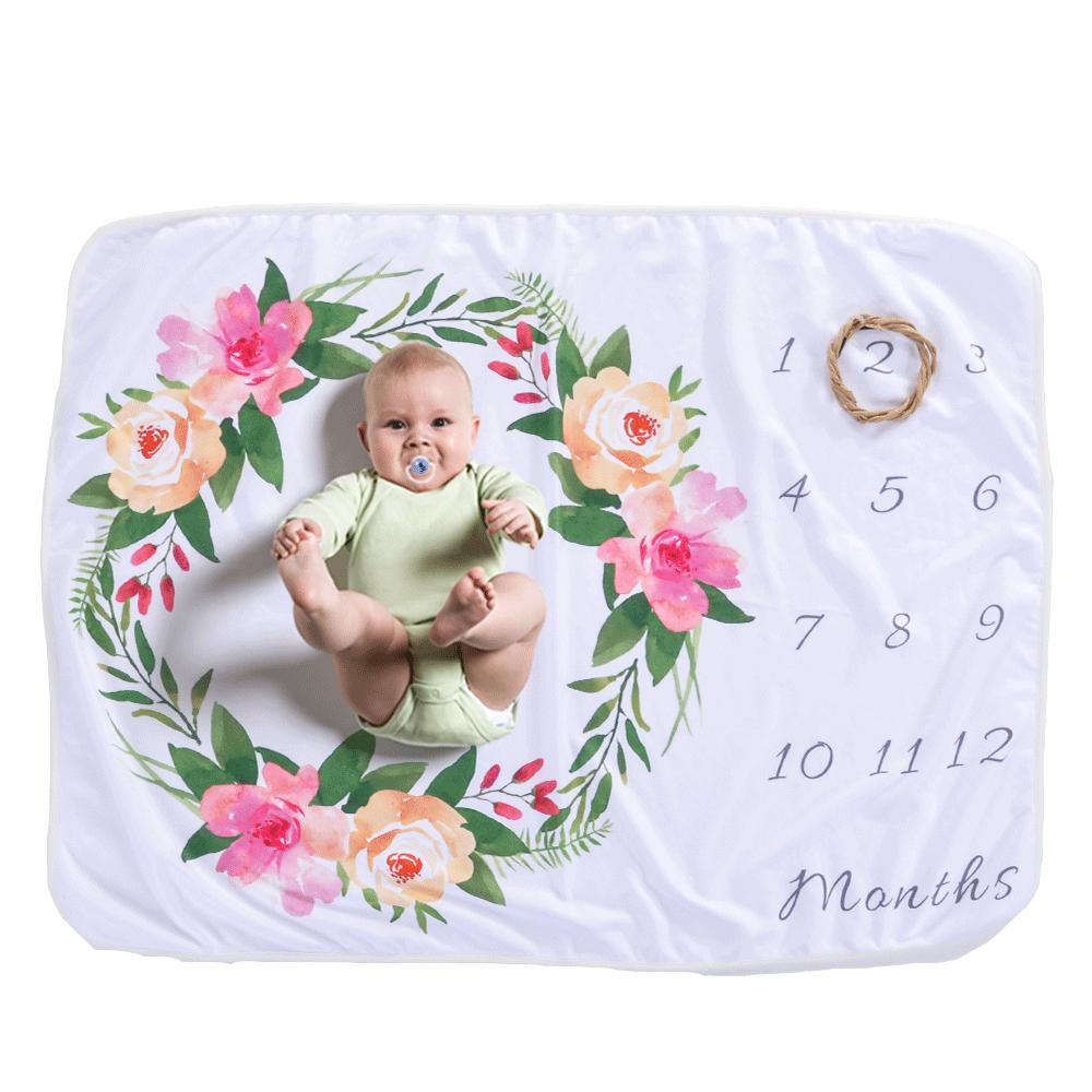 Baby Monats Decke,DIAOCARE baby meilenstein decke Lila Mond f/ür Jungen und M/ädchen Unisex babydecke Verfolgen Sie Wachstum und Alter-Neue Mama Baby-Dusche-Geschenk(51in x 40in