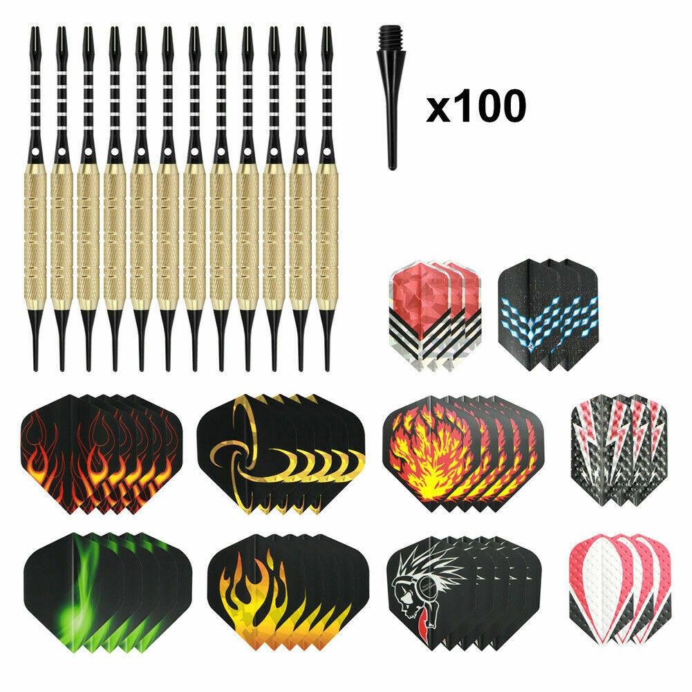 12 Stück Soft Pfeile Dartpfeile mit Kunststoffspitze 18 Gramm Shafts Darts DHL