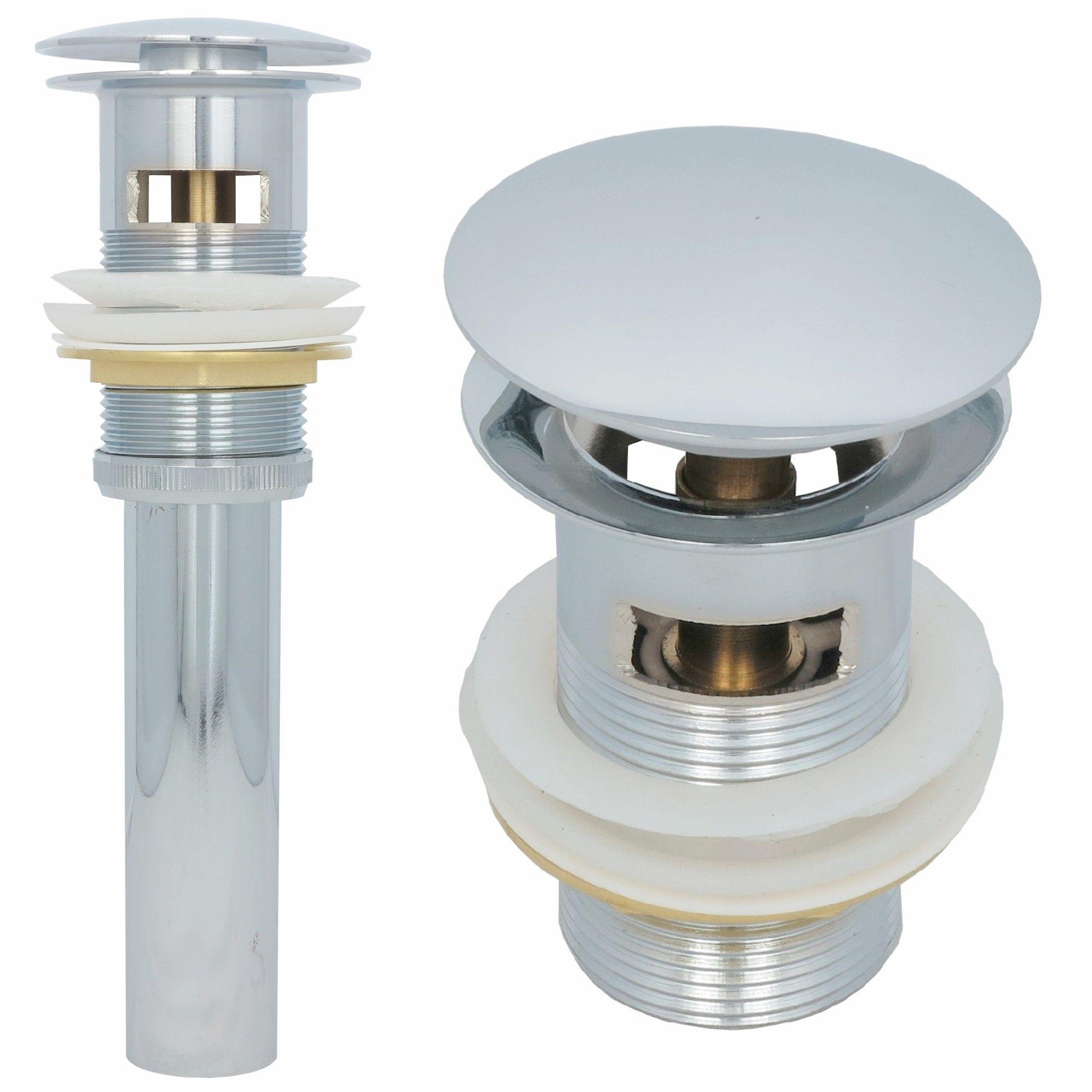 Ablaufventil Pop Up Ablaufgarnitur mit Überlauf Ablauf Abfluss für Waschbecken
