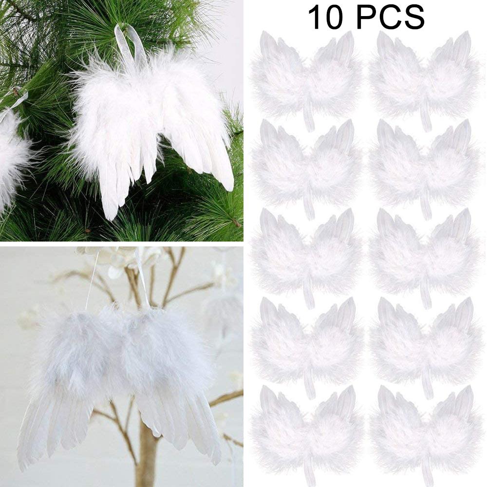 Engelsflügel Flügel 21 cm weiß Dekoration Weihnachten Verkleidung Engel Federn