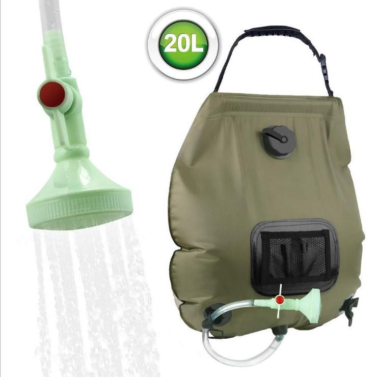 2x Camping Dusche Solar 20L Sack tragbar Garten Outdoor Außen Shower Reise Pool