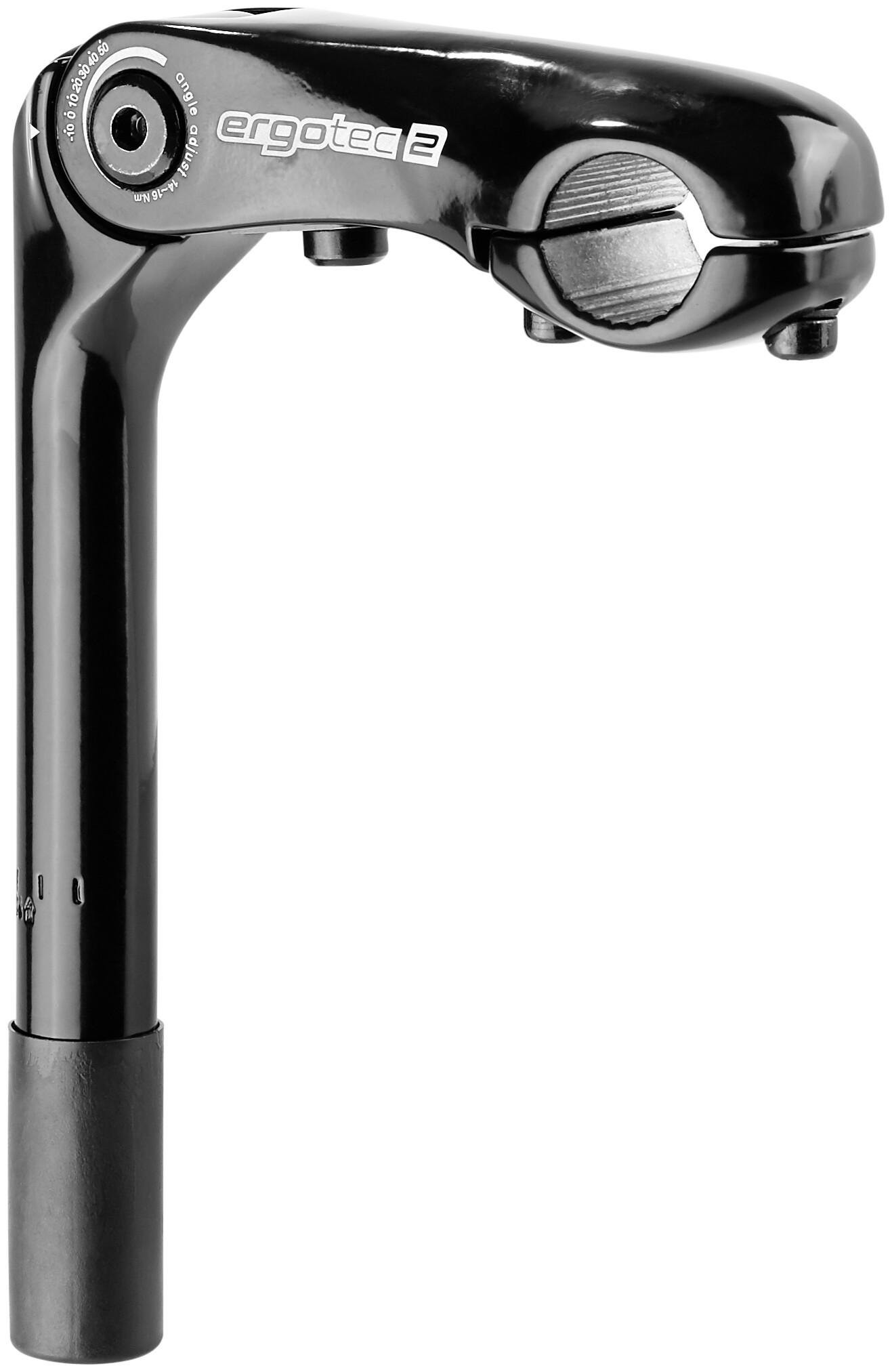 Humpert Schaftvorbau Kobra Vario Ø = 25,4//25,4mm L= 180//90mm Aluminium Fahrrad
