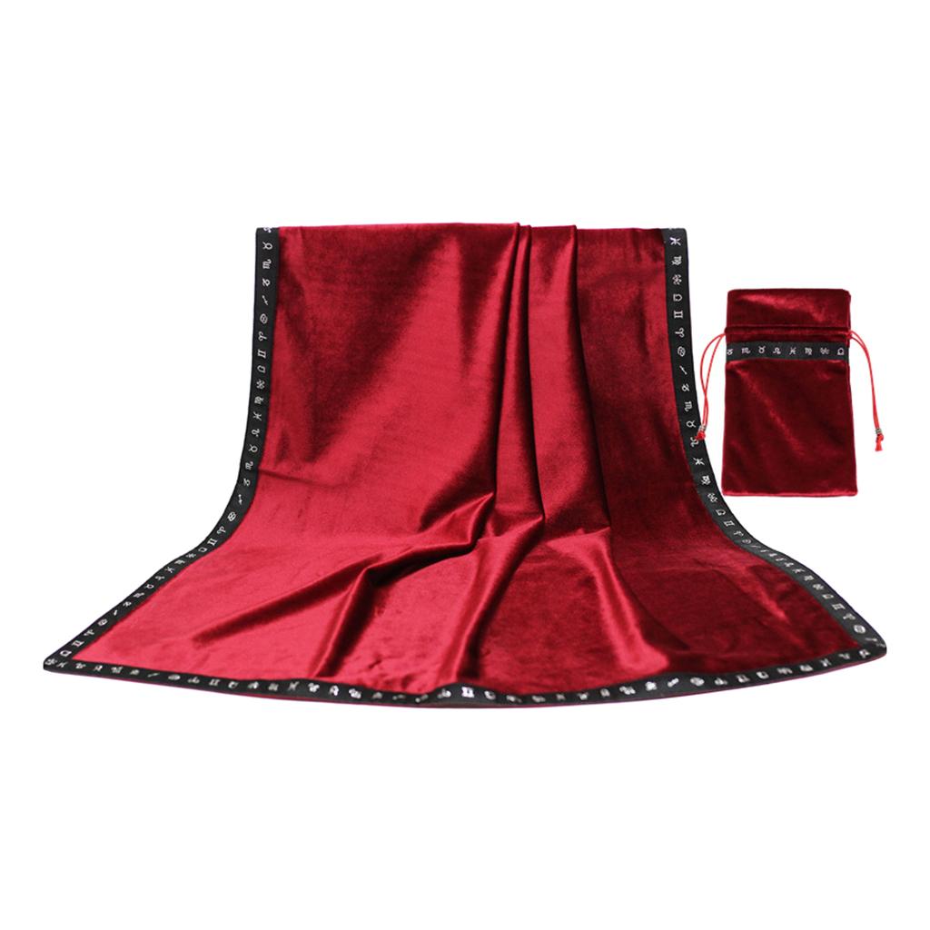 Tarot Tischdecke Abdeckung und Beutel mit Kordelzug Samt Teppich Divination