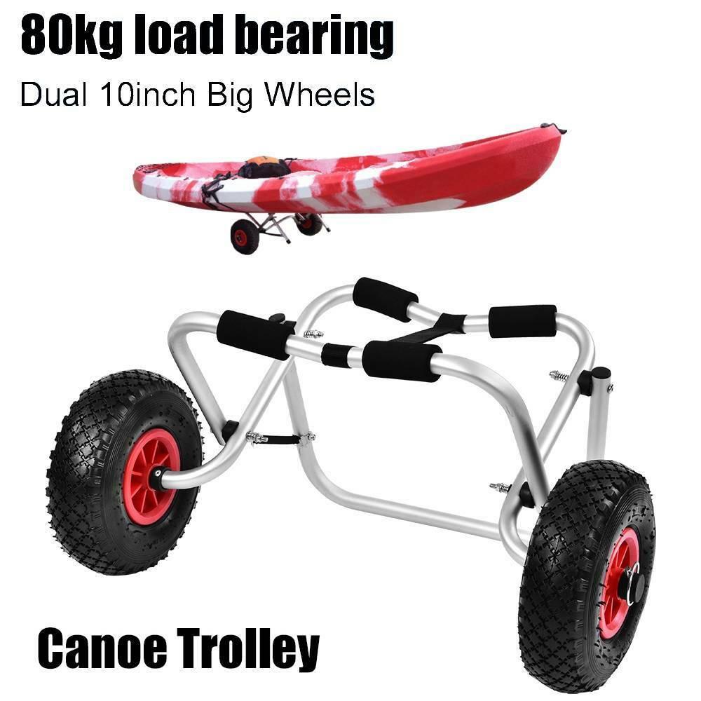 Kanuwagen aus Aluminium Bootstrailer Bootswagen Kanu Kajak Surf 80kg zerlegbar