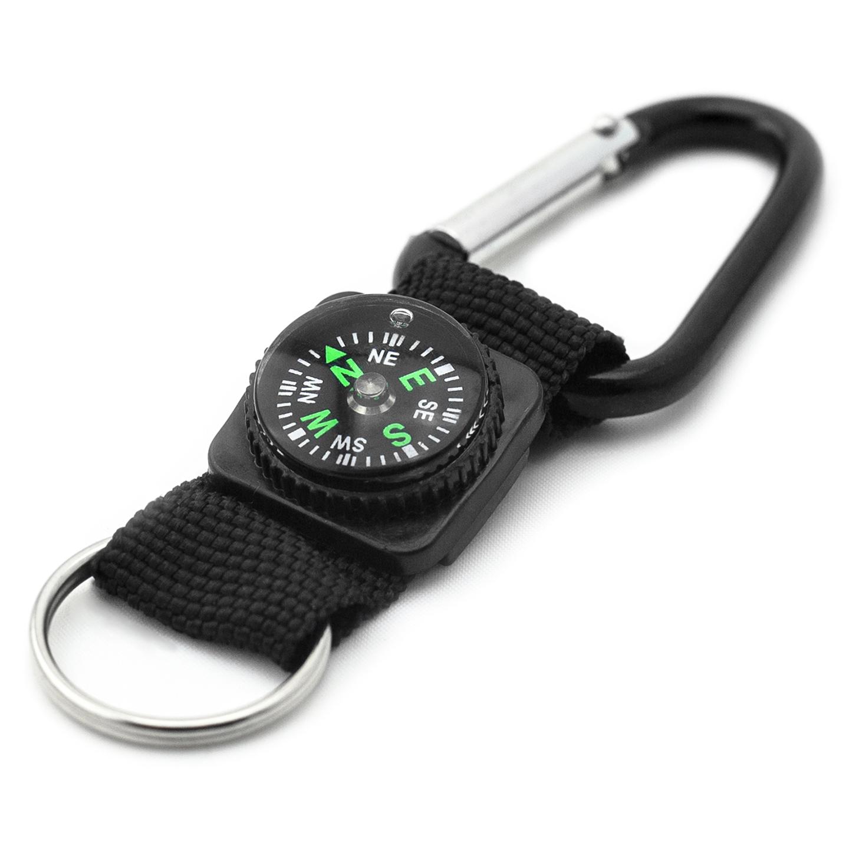 Haller Kompass mit Karabinerhaken 2,5cm Minikompass Schlüsselanhänger