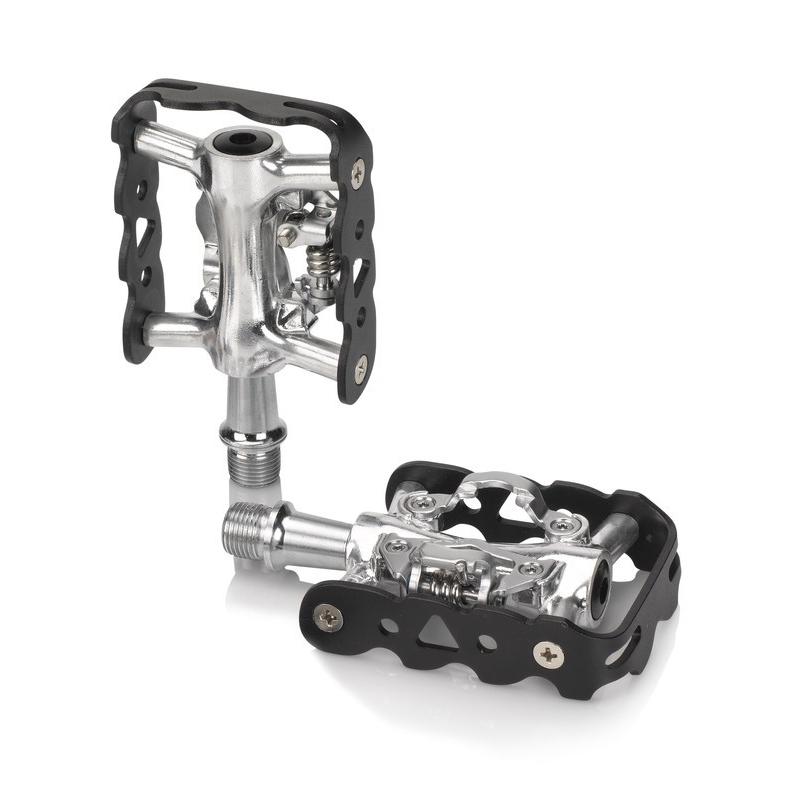 XLC System-Pedal PD-S02 einseitig SPD kompatibel silber schwarz Fahrrad Pedale