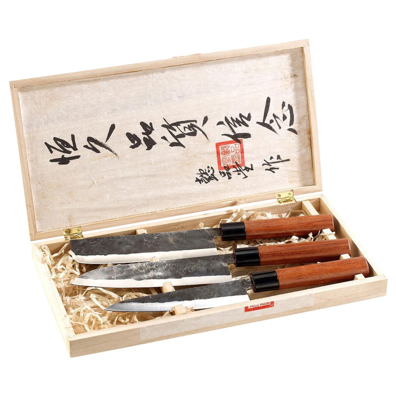 Elite 2er Messer Set Nakiri Hackmesser Kochmesser VG10 Damastmesser küchenmesser