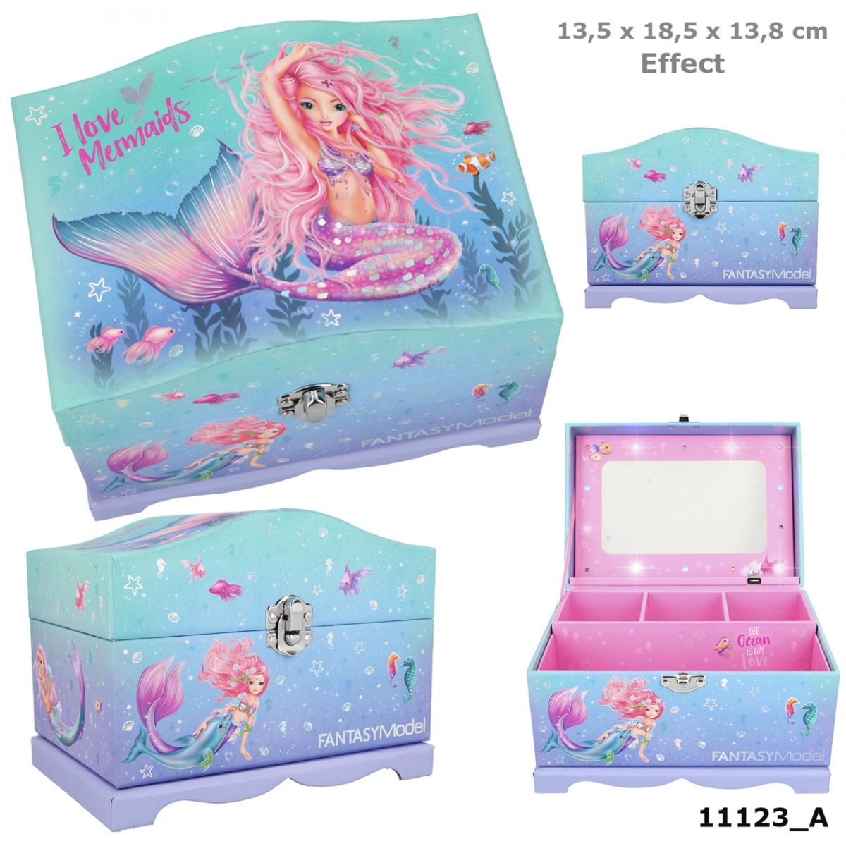 mit Licht 18,5 x 13,5 x 14 cm Depesche 10948 Schmuckschatulle Fantasy Model Mermaid ca