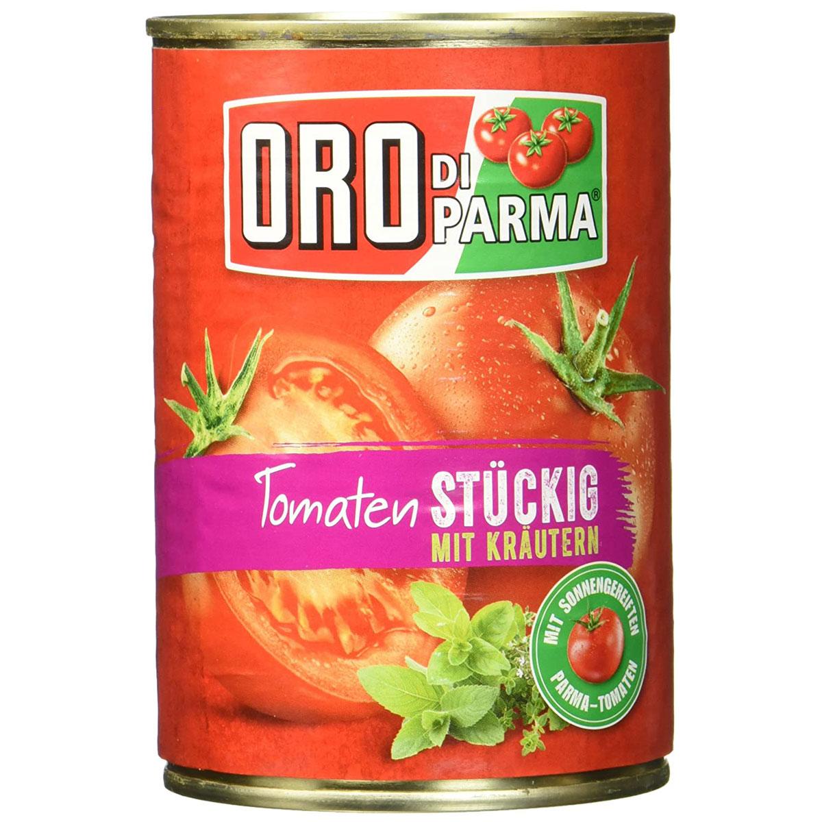 Oro di Parma Tomaten stückig mit Italienischen Kräutern 8ml