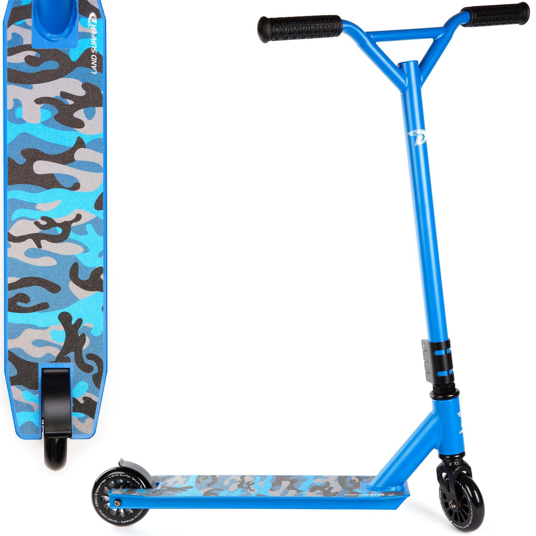 Land Surfer Stunt Scooter   Blue Camo