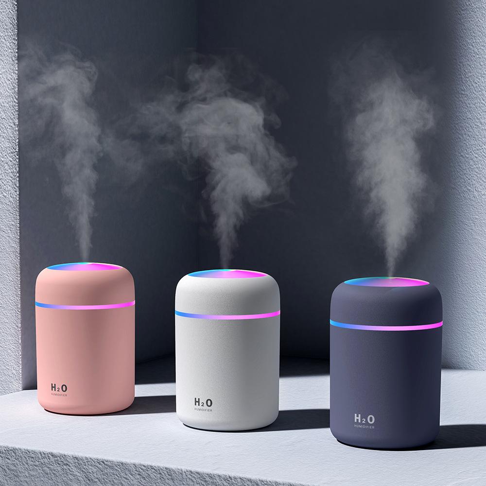 8ml LED Luftbefeuchter Aroma Diffusor Electric Essential Purifier  Luftreiniger schwarz