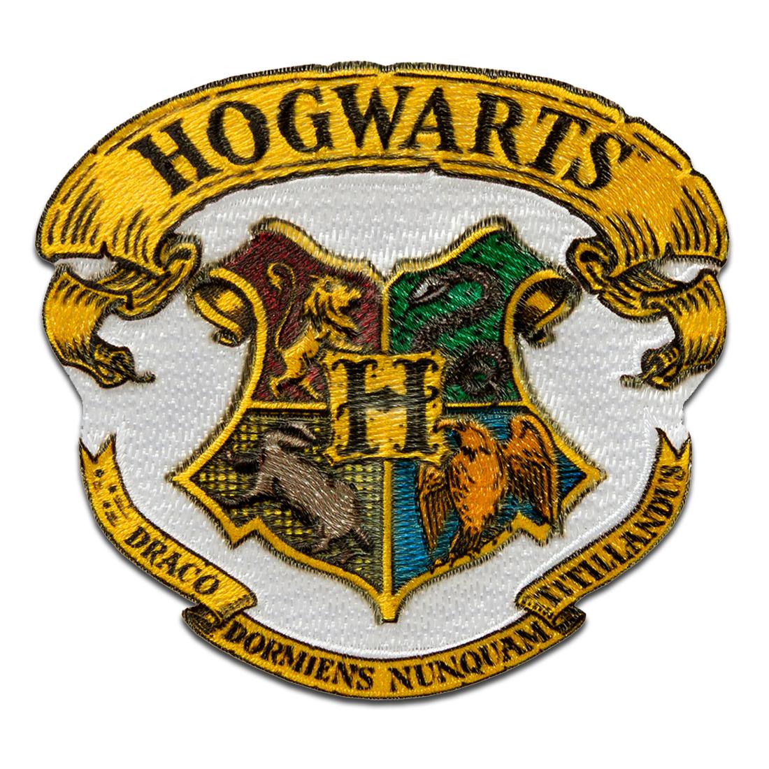 Harry Potter © Hogwarts Wappen   Aufnäher, Bügelbild, Aufbügler,  Applikationen, Patches, Flicken, zum aufbügeln, Größe 25,25 x 25 cm