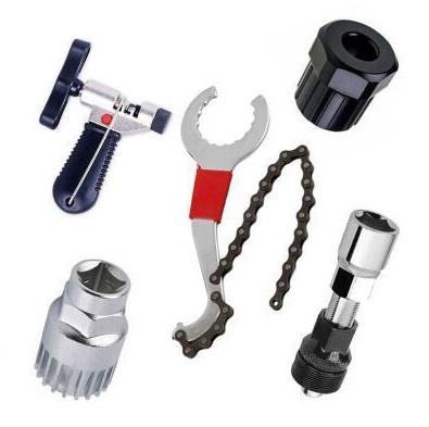 6 in 1 Fahrrad Werkzeug Set Kettenpeitsche Zahnkranzabzieher Kurbelabzieher Kits