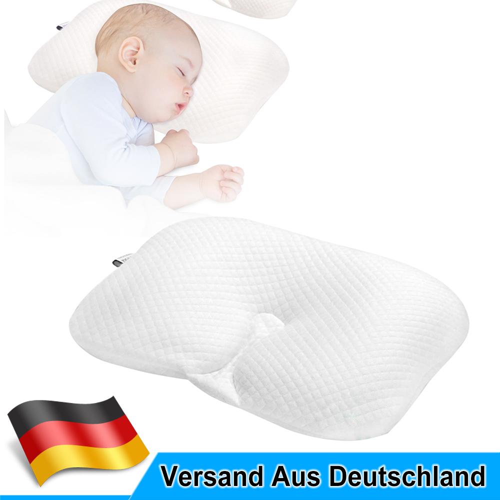 Atmungsaktives Babykopfkissen Orthop/ädisches Gegen Plattkopf und Kopfverformung Parkomm Babykissen f/ür Neugeborene