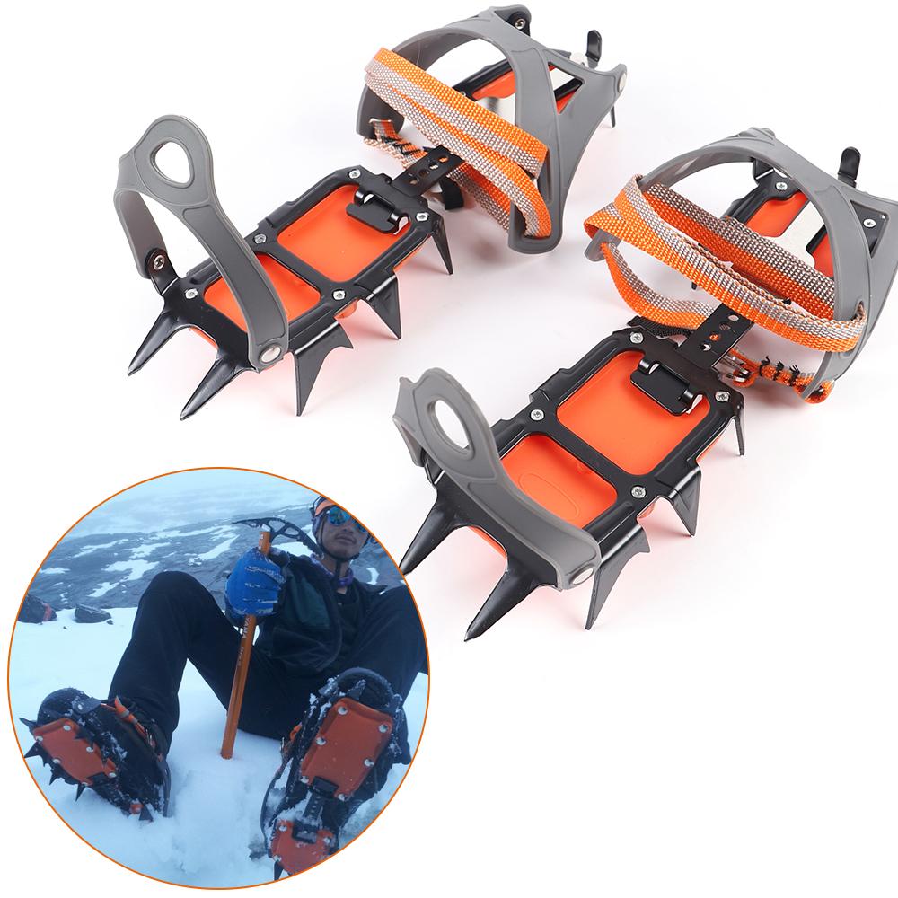 Trendyest Steigeisen Spikes f/ür Klettern Bergsteigen Trekking High Altitude Winter Outdoor Schuhkrallen Anti Rutsch Schuhspikes Ice Klampen Steigeisen mit 10 Z/ähne