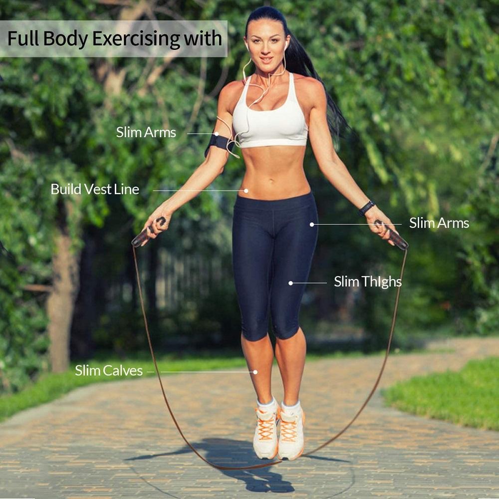 N Einstellbares Sport-Springseil Fitness-Stahldraht-Kugellager-Springseil