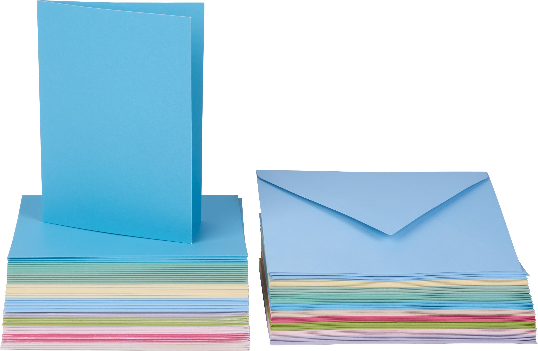 VBS Mega Vintagekarten-Set 50 Stück naturfarben Hochzeit Geburtstag Taufe