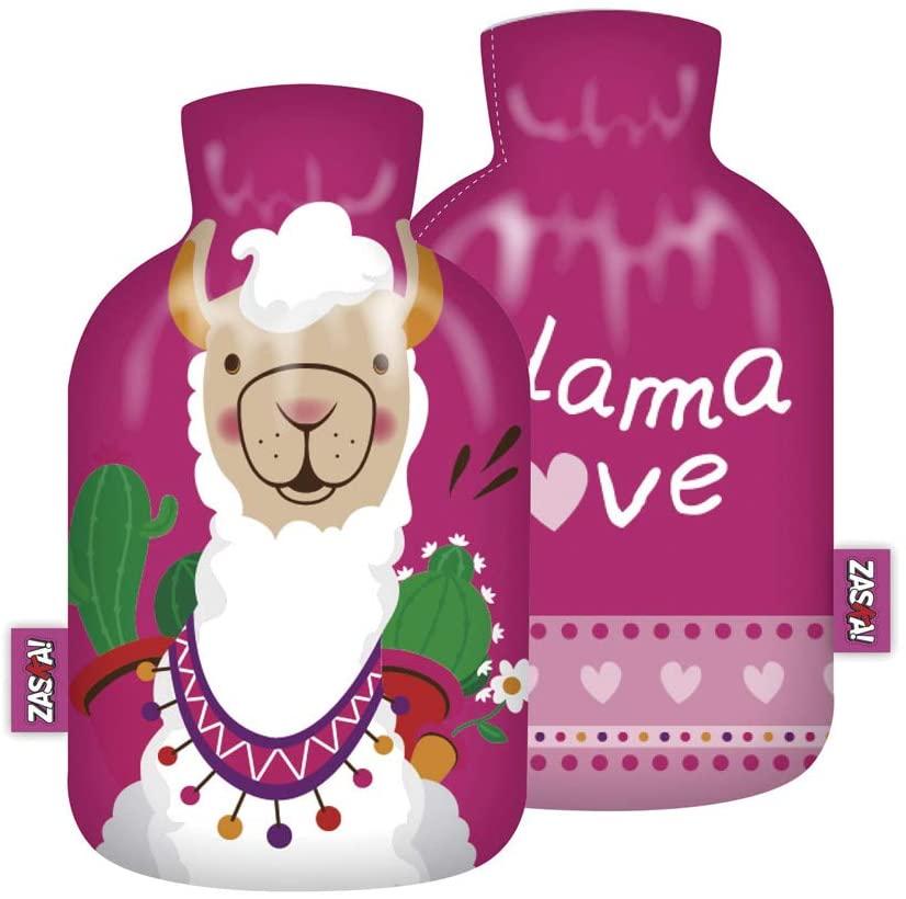 rosa CBK-MS W/ärmflache Alpaka//Lama W/ärme Flasche Kissen Bettflasche W/ärmekissen