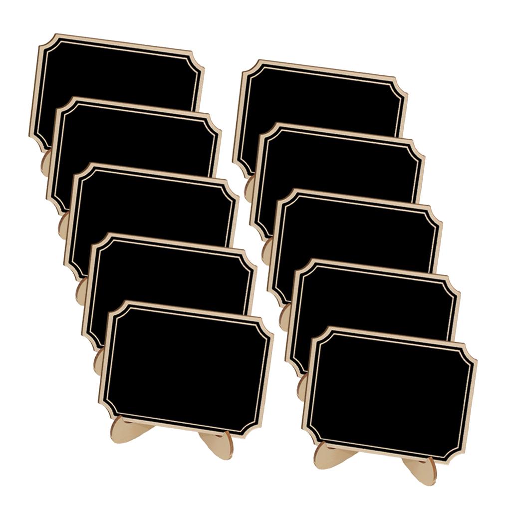 10 x Mini Holztafel Tafel mit runder Basis