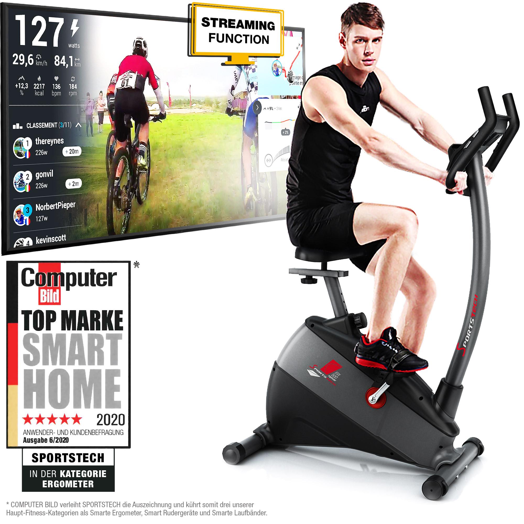 Fitness Fahrrad gelenkschonendes Cardio-Training,Max.150kg Fitness Bike Ergometer Heimtrainer und XBike
