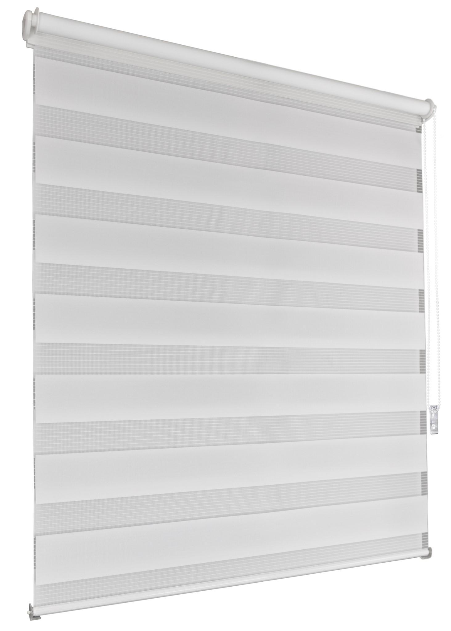 Doppelrollo Klemmfix schwarz//weiß 120x130cm Seitenzugrollo ohne Bohren Seitenzug