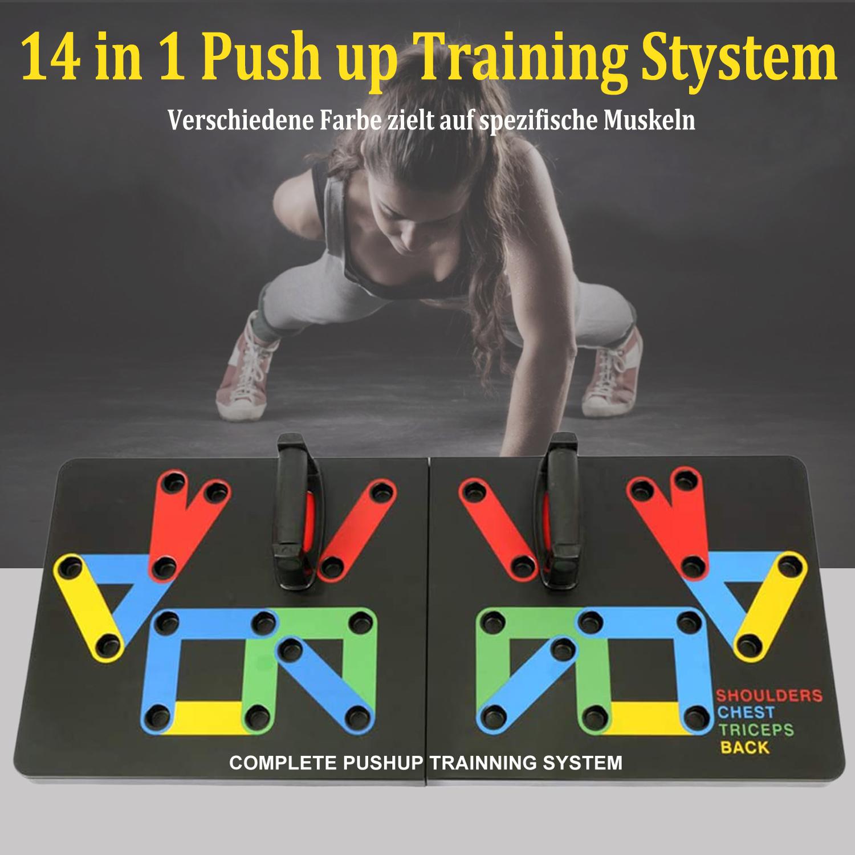 Push Up Board Liegestützgriffe Körperkraftd Fitnessgeräte 12 in 1 Liegestützen