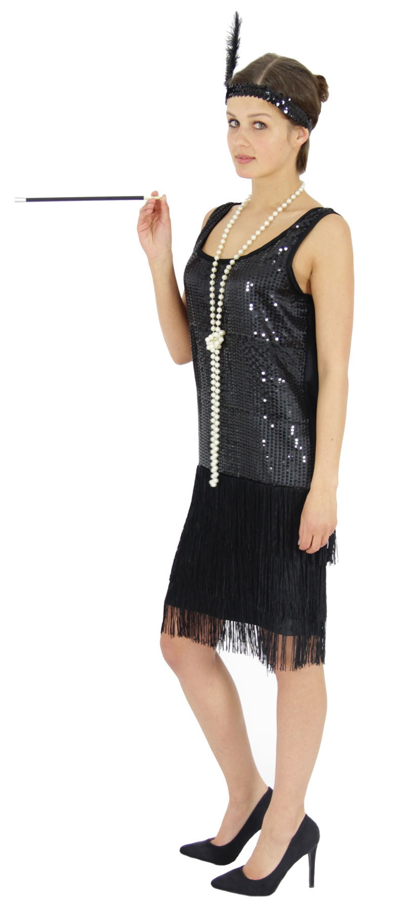 20er Jahre Charleston Gatsby Kostüm Charlestonkostüm Fransen Flapper 20s