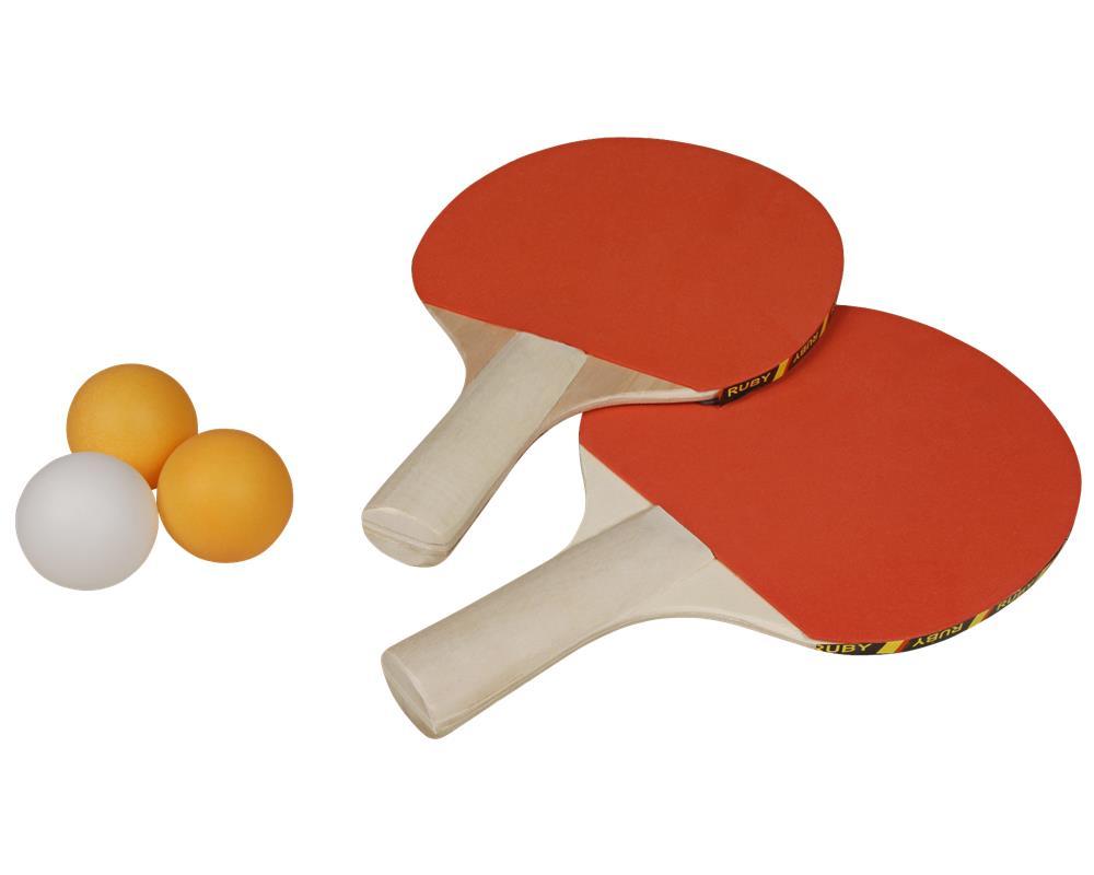 Tasche Tischtennis Ping Pong Set Tischtennisschläger 2 Schläger mit 3 Bälle