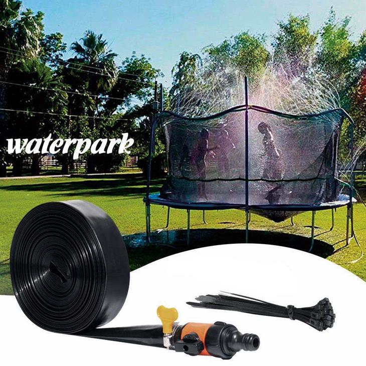 Trampolin Spray Wasserpark Spa/ß Sommer Outdoor Wasserspiel Spielzeug Trampolin Zubeh/ör (26ft) N//C Trampolin Sprinkler Spielzeug f/ür Kinder