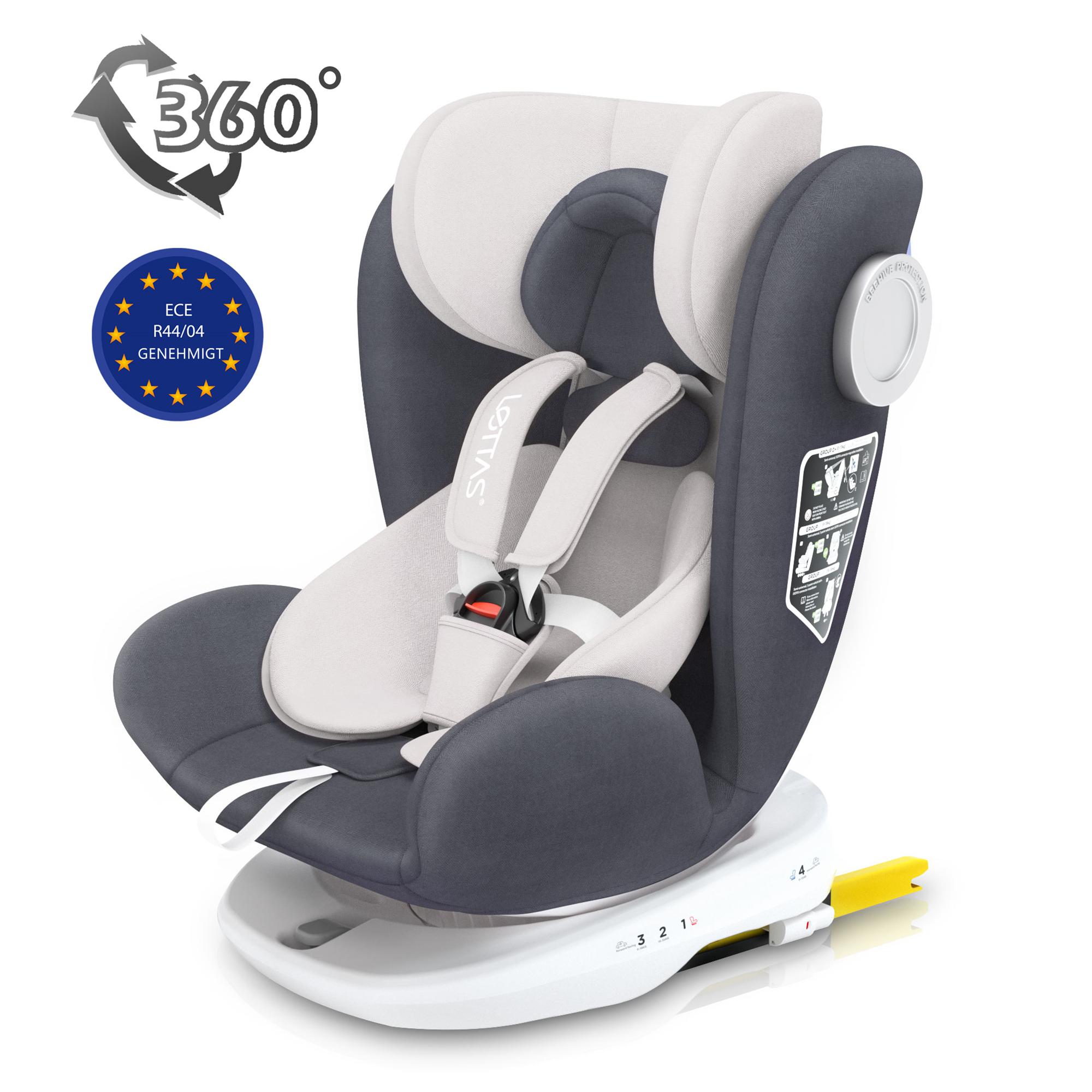 0//1//2//3 0-36 kg schwarz LA0014 AS Lettas Riola Kindersitz mit ISofix Gr
