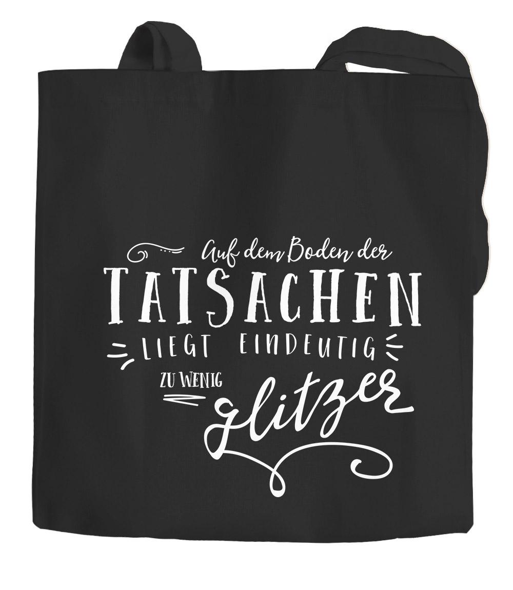Fun Baumwolltasche Jutebeutel Schwarz DF23-Silber F0119 MEI ANDERE DASCHN IS A L
