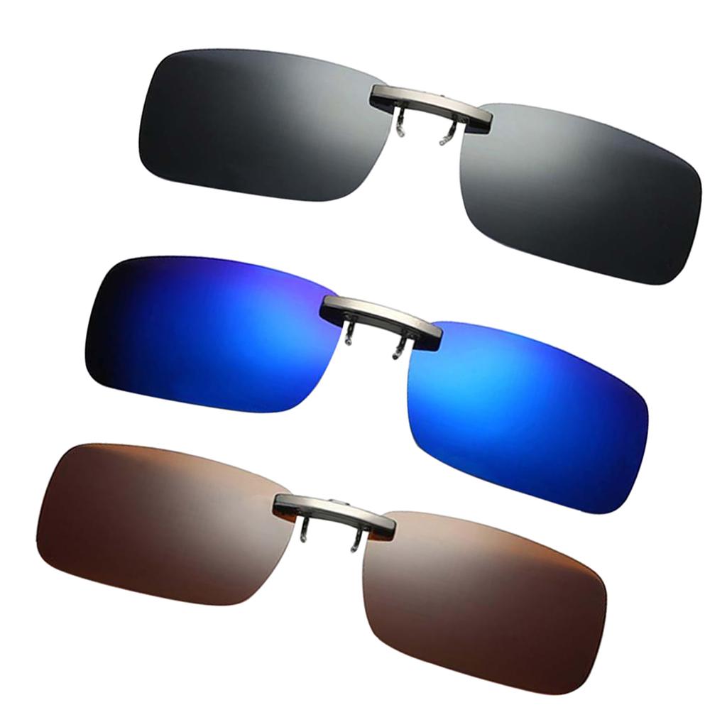Flip Sonnenbrille Clip Polarisierte Fahren Nachtsicht Brillenaufsatz 400UV Glas