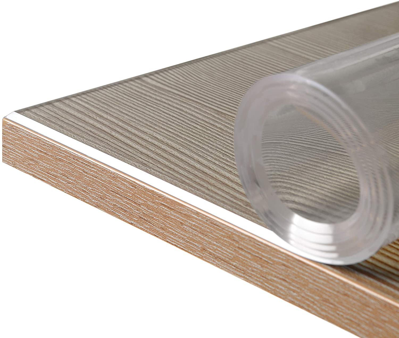 Glasklar Folie 12 mm, transparente Tischdecke Tischschutz, Germany,  Wuschmaß, Größe wählbar(1212cm)