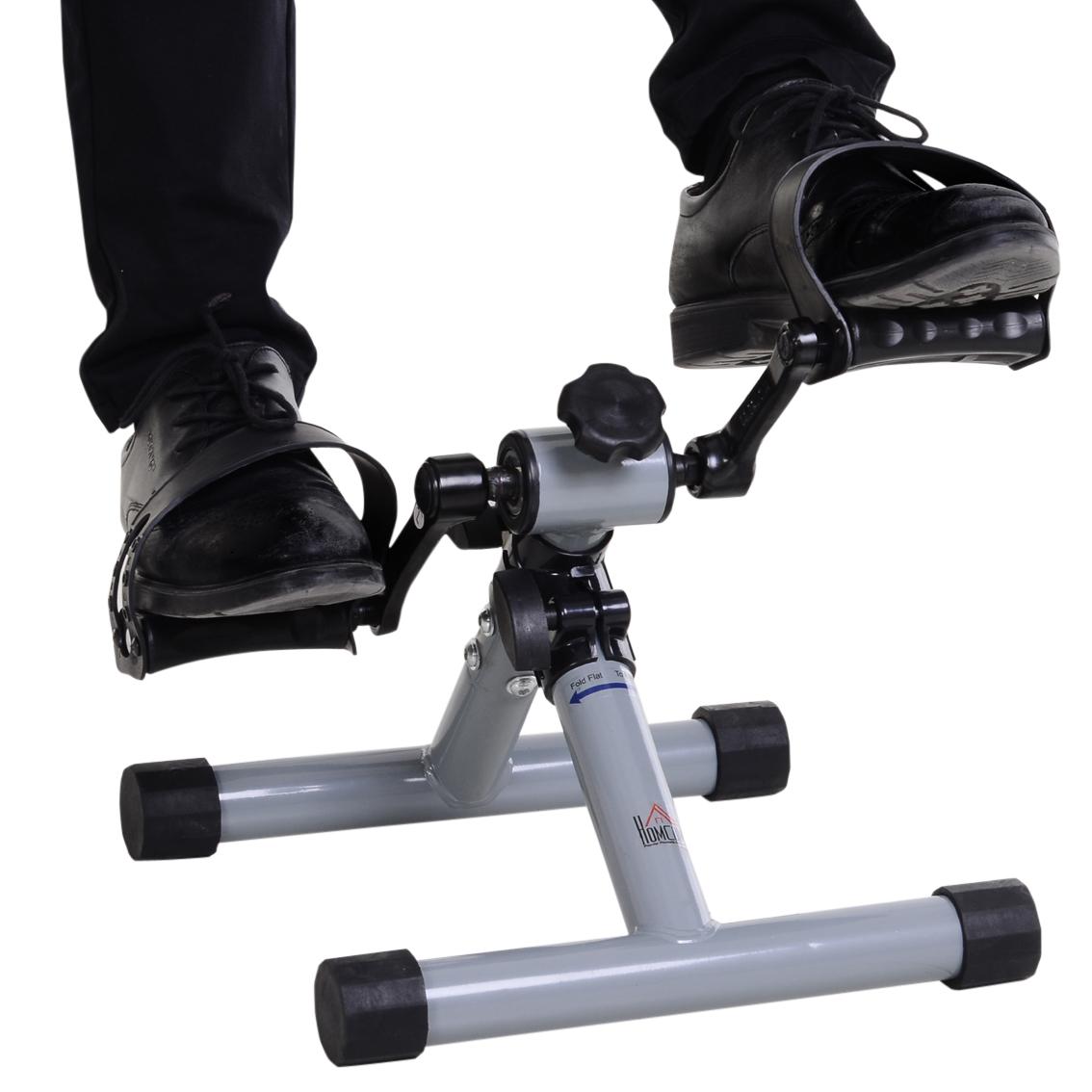HOMCOM Heimtrainer Mini Bike Pedaltrainer Magnetwiderstand LCD-Display Stahl